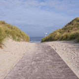 Way to beach (north-sea) Royalty Free Stock Images