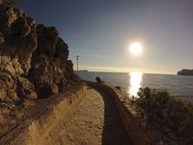 Sun in the paradise stock photo