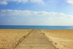 Way to the beach Stock Photography