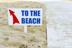 Way to the beach Stock Photos