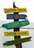 This way to the beach. Stock Images