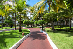 Way to beach in tropical resort Stock Photography