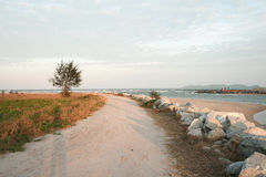 Way to the beach. Stock Images