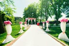 The way to beautiful wedding ceremony Stock Image
