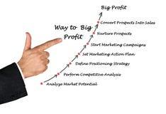 Way to Big Profit Stock Image