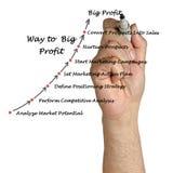 Way to big profit Stock Images