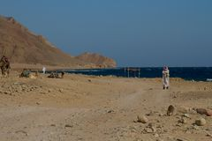 On the way to the Blue Hole, Dahab, Egypt Stock Photos