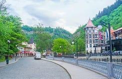 The way to Borjomi Park Stock Photography