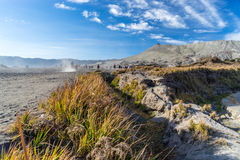 Way to Bromo crater Royalty Free Stock Images