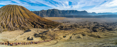 Way to Bromo crater Royalty Free Stock Photography