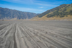 Way to Bromo mountain sawana Stock Image