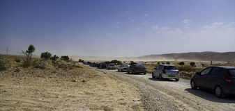 On the way to Burning Man Royalty Free Stock Photography