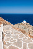 Way to the chapel of 7 Martyrs, Sifnos, Greece Stock Photography