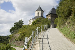 The way to the chapel of St. Matthias in Kobern-Gondorf Royalty Free Stock Photography