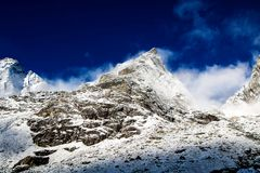 On the way to Chola Pass royalty free stock photography