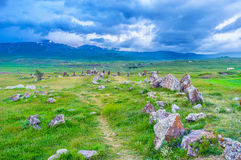 The way to the circle of stones Royalty Free Stock Photography