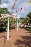 Way to the dagoba. In Anuradhapura, Sri Lanka Royalty Free Stock Images