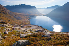 Way to Dalsnibba mountain in Norway Stock Photography