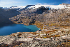 Way to Dalsnibba mountain in Norway Royalty Free Stock Image