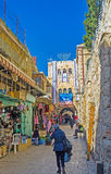 The way to Damascus Gate Royalty Free Stock Photos