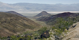 The way to Death Valley Royalty Free Stock Photography