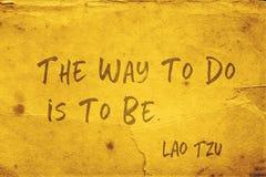 Way to do Lao Tzu stock image