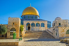 The way to the Dome of the Rock Royalty Free Stock Photos