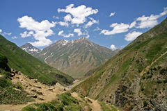 Way to Dudipatsir. Trek to Dudipatsir lake from Baisel, looking back to mountain of Baisel. Located in North of Pakistan Royalty Free Stock Images