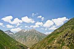 Way to Dudipatsir. Trek to Dudipatsir lake from Baisel, looking back to mountain of Baisel. Located in North of Pakistan Stock Image