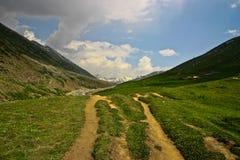 Way to Dudipatsir. Trek to Dudipatsir lake Stock Image