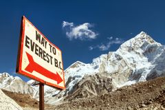 Way to Everest base camp Stock Image