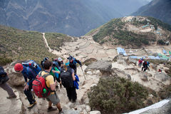 Way to Everest base camp. Royalty Free Stock Photo