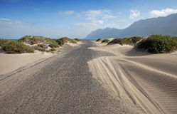Way To Famara Beach Royalty Free Stock Images