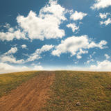Way to far away landscape with grass Royalty Free Stock Photography