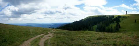 On the way to Feldberg mountain in Black Forest Royalty Free Stock Photo