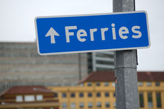 This way to the ferry Stock Photography