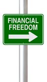 This Way to Financial Freedom Royalty Free Stock Photo