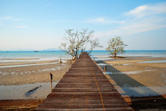 Way to Fishing port at Koh Mak Stock Photography