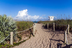Way to Fort Pierce beach Royalty Free Stock Image