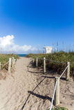 Way to Fort Pierce beach Stock Images