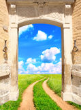 Way to freedom. Conceptual image - a way to freedom Stock Images