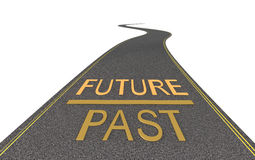 On the way to the future. On white Royalty Free Stock Photo