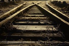 Way to the future. Tracks and light like road to the future Royalty Free Stock Photography