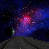 Way to Galaxy and earth Stock Images