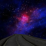 Way to Galaxy and earth Stock Image