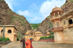 Way To Galtaji Temple ,Jaipur. Royalty Free Stock Photography