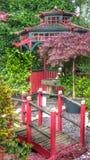 The way to the garden shrine. Oriental garden shrine surprise Royalty Free Stock Image