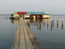 The way to go home. The way to home on estuary, Thailand Royalty Free Stock Photos