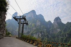 The way to go to the heaven door mountain at Zhangjiajie Royalty Free Stock Photo