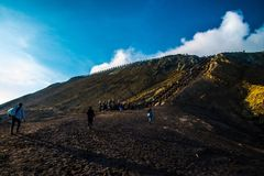 Way to got Bromo. At indonesia country Royalty Free Stock Image